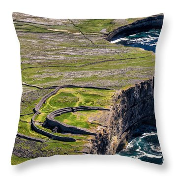 Throw Pillow featuring the photograph Cliffs Of Inishmoore by Juergen Klust