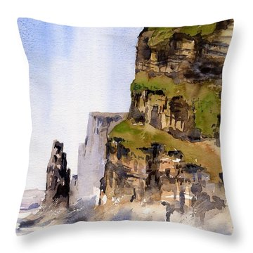 Clare   The Cliffs Of Moher   Throw Pillow