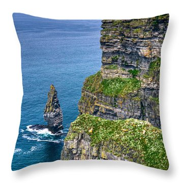 Cliffs Of Moher 41 Throw Pillow