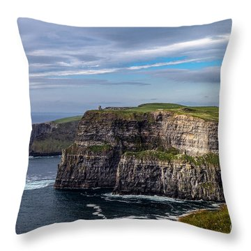 Throw Pillow featuring the photograph Cliffs Of Moher I by Juergen Klust