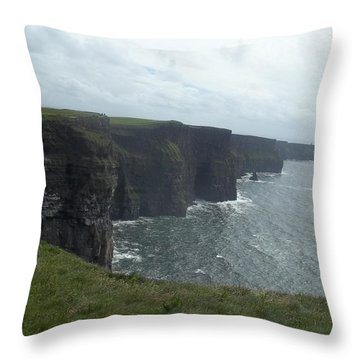 Cliffs Of Moher II Throw Pillow