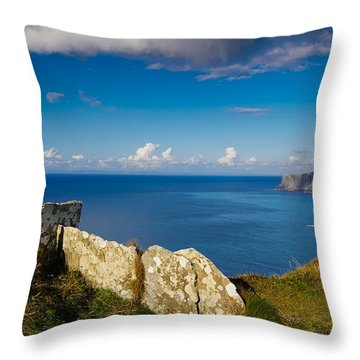 Throw Pillow featuring the photograph Cliffs Of Moher by Juergen Klust