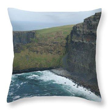 Cliffs Of Moher Panorama 1 Throw Pillow