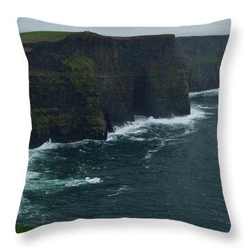 Cliffs Of Moher Panorama 2 Throw Pillow