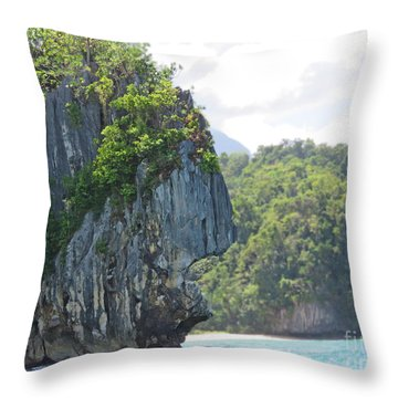 Cliffs Of Palawan Throw Pillow