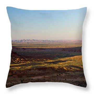 Cliffs On A Landscape, Monument Valley Throw Pillow by Panoramic Images