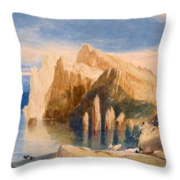Cliffs On The North East Side Of Point Throw Pillow