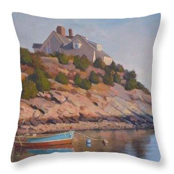 Cliffside Throw Pillow by Dianne Panarelli Miller