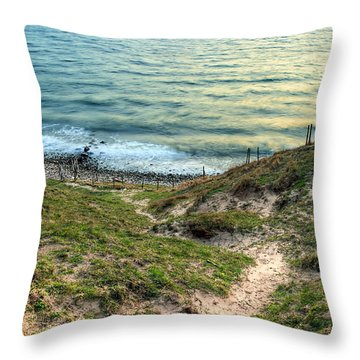 Cliffside Path Throw Pillow