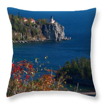 Cliffside Scenic Vista Throw Pillow by James Peterson