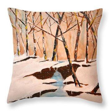 Cliffy Creek Throw Pillow