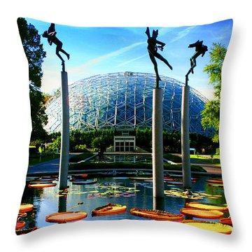 Climatron Geodesic Dome Landscape Throw Pillow