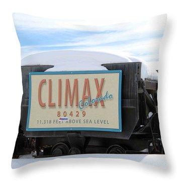 Climax Colorado Throw Pillow by Fiona Kennard