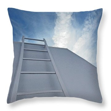 Throw Pillow featuring the photograph Climb Up by Lena Wilhite