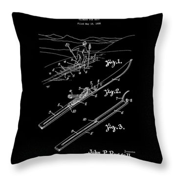 Climber For Skis 1939 Russell Patent Art Throw Pillow