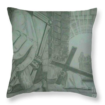 Clinging To The Cross Throw Pillow