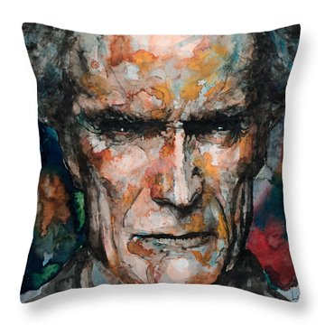 Clint Eastwood Throw Pillow by Laur Iduc
