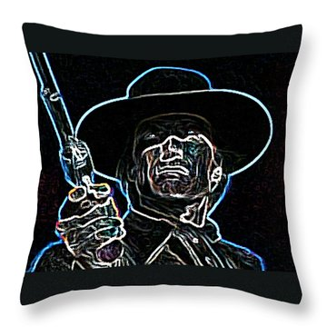 Throw Pillow featuring the painting Clint by Hartmut Jager