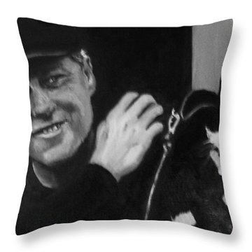 Clinton And Socks Throw Pillow