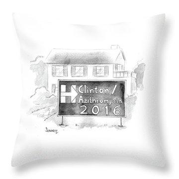 Clinton/azithromycin Throw Pillow