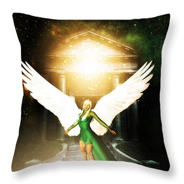 Clio Angel Throw Pillow by Riana Van Staden