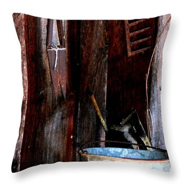 Throw Pillow featuring the photograph Clippers And The Bucket by Lesa Fine