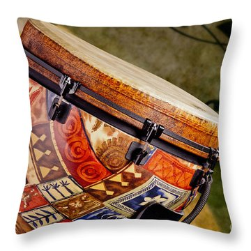 Clissic Djembe African Drum Photograph In Color 3334.02 Throw Pillow