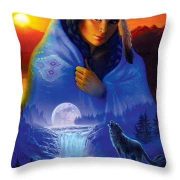 Cloak Of Visions Portrait Throw Pillow by Andrew Farley