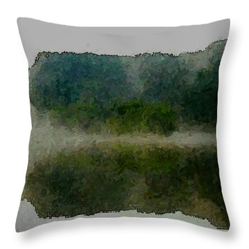 Cloaked Fluidity Throw Pillow