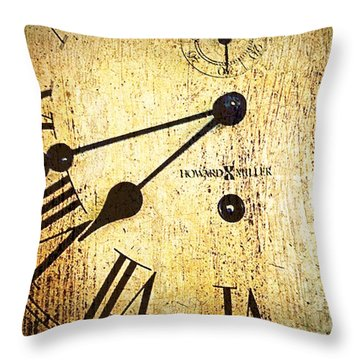 Clock Face Throw Pillow by Suzanne Powers