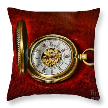 Clock - The Pocket Watch Throw Pillow by Paul Ward