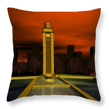 Clock Tower Throw Pillow by John Pangia