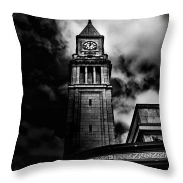 Clock Tower No 10 Scrivener Square Toronto Canada Throw Pillow by Brian Carson