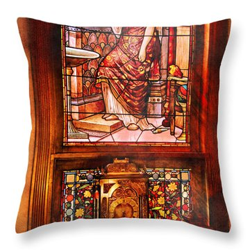 Clockmaker - An Ornate Clock Throw Pillow by Mike Savad
