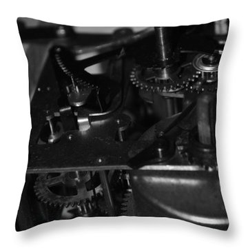 Clocks Black And White Throw Pillow