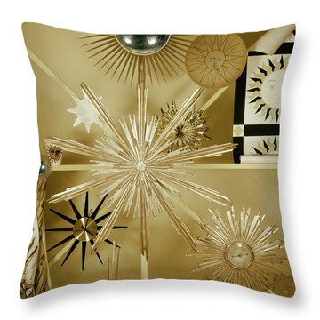 Clocks Hanging On The Wall Throw Pillow