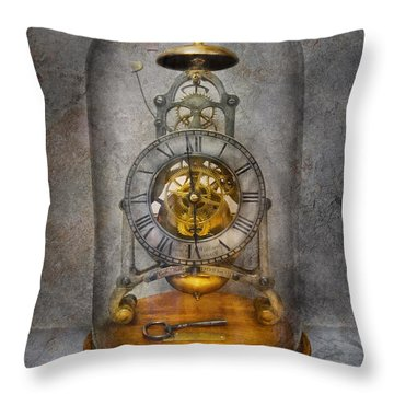 Clocksmith - The Time Capsule Throw Pillow by Mike Savad