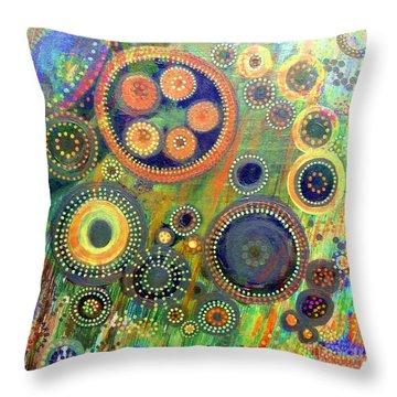 Clockwork Garden Throw Pillow