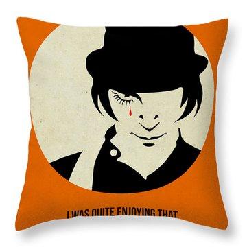 Clockwork Orange Poster Throw Pillow