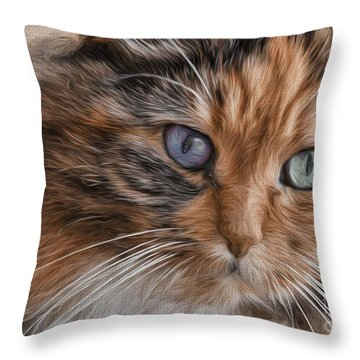 Cloe Kitty Throw Pillow
