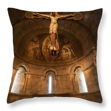 Cloisters Crucifixion Throw Pillow
