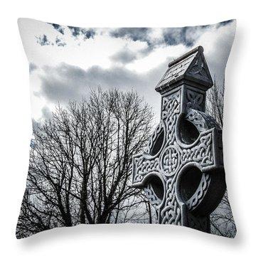 Clondegad Celtic Cross Throw Pillow