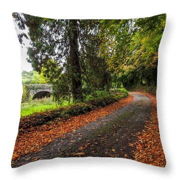 Clondegad Country Road Throw Pillow