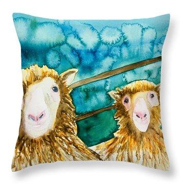 Cloning Around Throw Pillow
