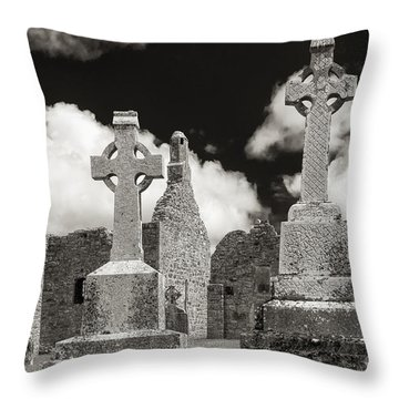 Throw Pillow featuring the photograph Clonmacnoise by Juergen Klust