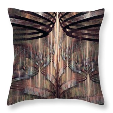 Throw Pillow featuring the digital art Close Encounters by Kim Redd