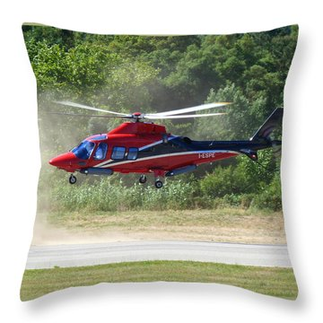 Close Landing  Throw Pillow by Rogerio Mariani