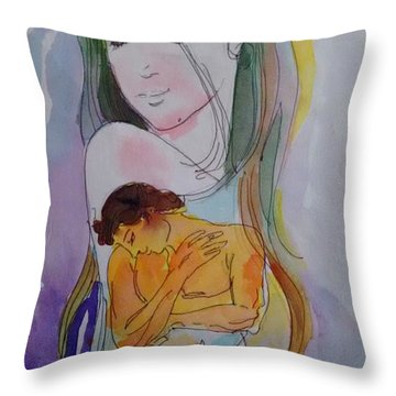 Close To Heart Throw Pillow by Chintaman Rudra