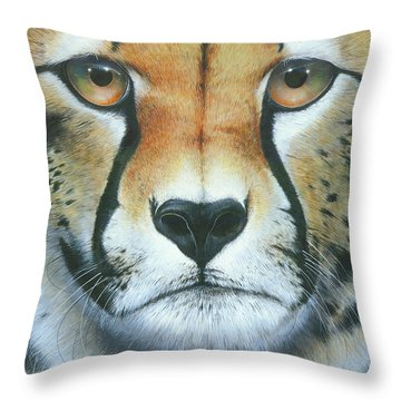Throw Pillow featuring the painting Close To The Soul by Mike Brown