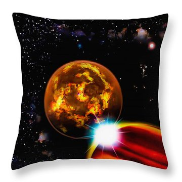 Throw Pillow featuring the photograph Close Together Far Apart by Naomi Burgess